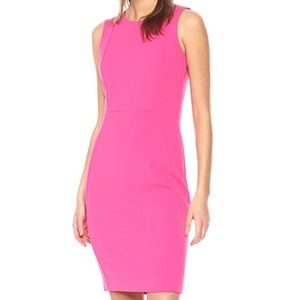 Calvin Klein Sleeveless Princess Seam Sheath Dress